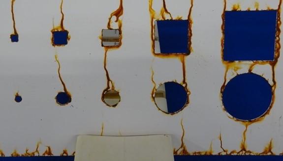 unbearbeitetes Laserteil nach 336h Salzsprühnebeltest